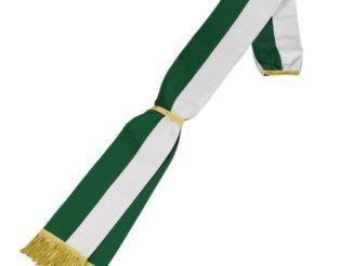 Schärpe aus Ripsstoff grün-weiß