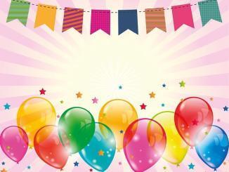Luftschlangen und Luftballons