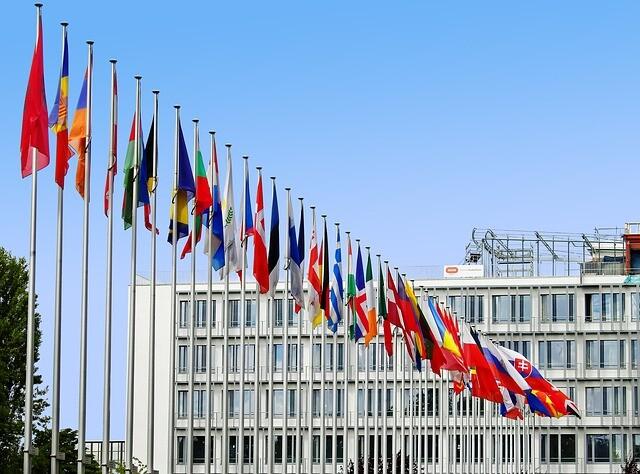Flaggen verschiedener Länder