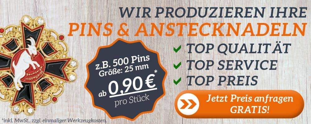 Pins & Anstecknadeln nach Ihren Wünschen gefertigt