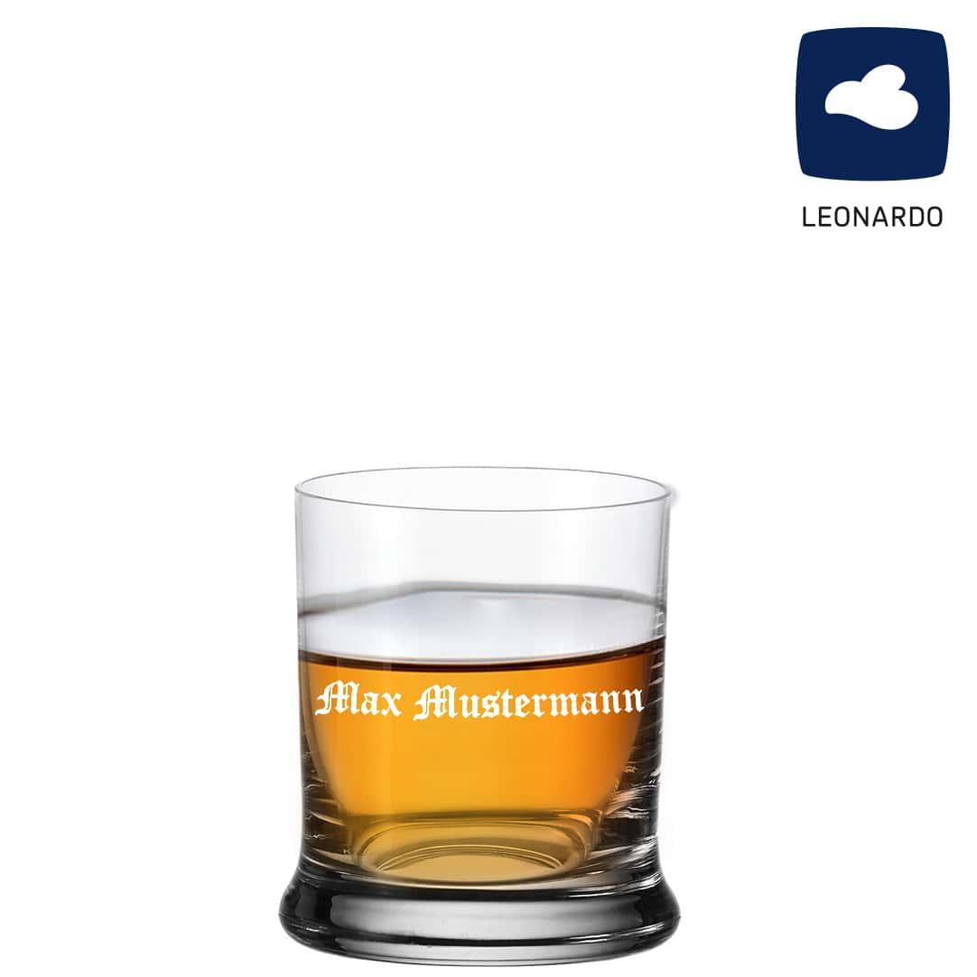 Whiskeyglas von Leonardo mit Gravur