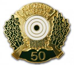 Schützenabzeichen Abzeichen Gold  Neu Gravur Orden Auszeichnung Medaille 69 Pokale & Preise