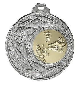 """Medaille """"Sunion"""" Ø 50mm mit Wunschemblem und Band silber"""