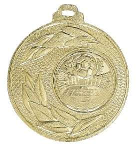 """Medaille """"Sunion"""" Ø 50mm mit Wunschemblem und Band gold"""