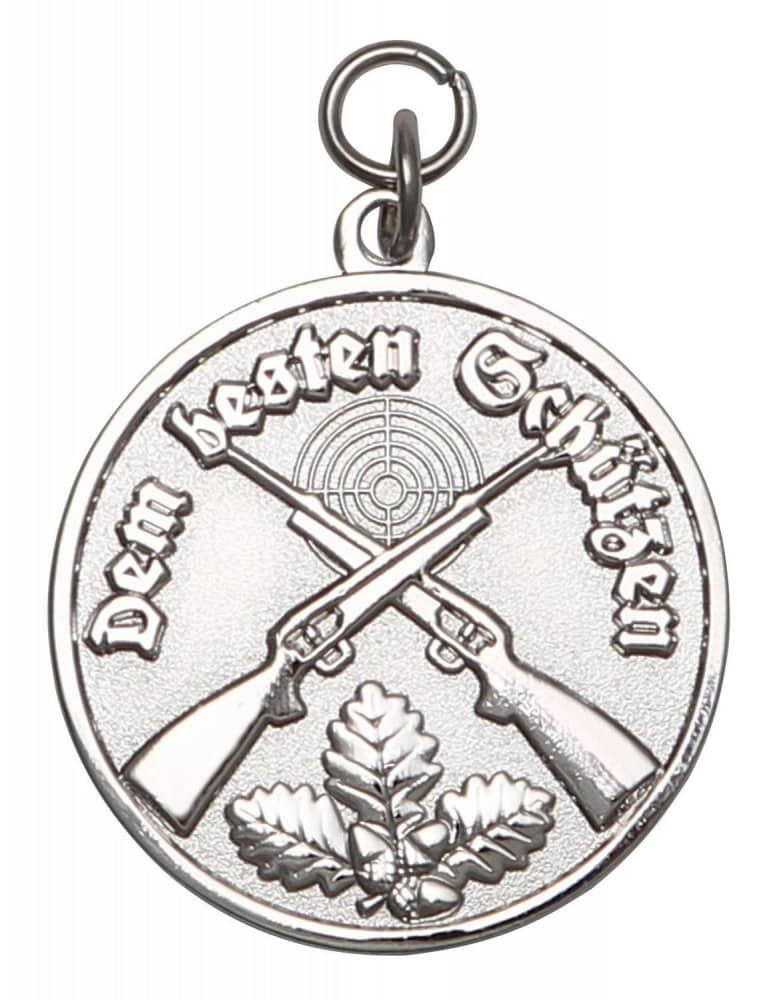 Medaille - Dem besten Schützen silber