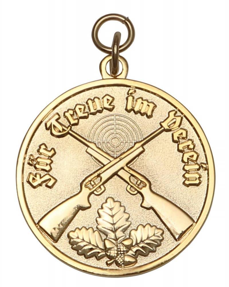 Medaille - Für Treue im Verein gold