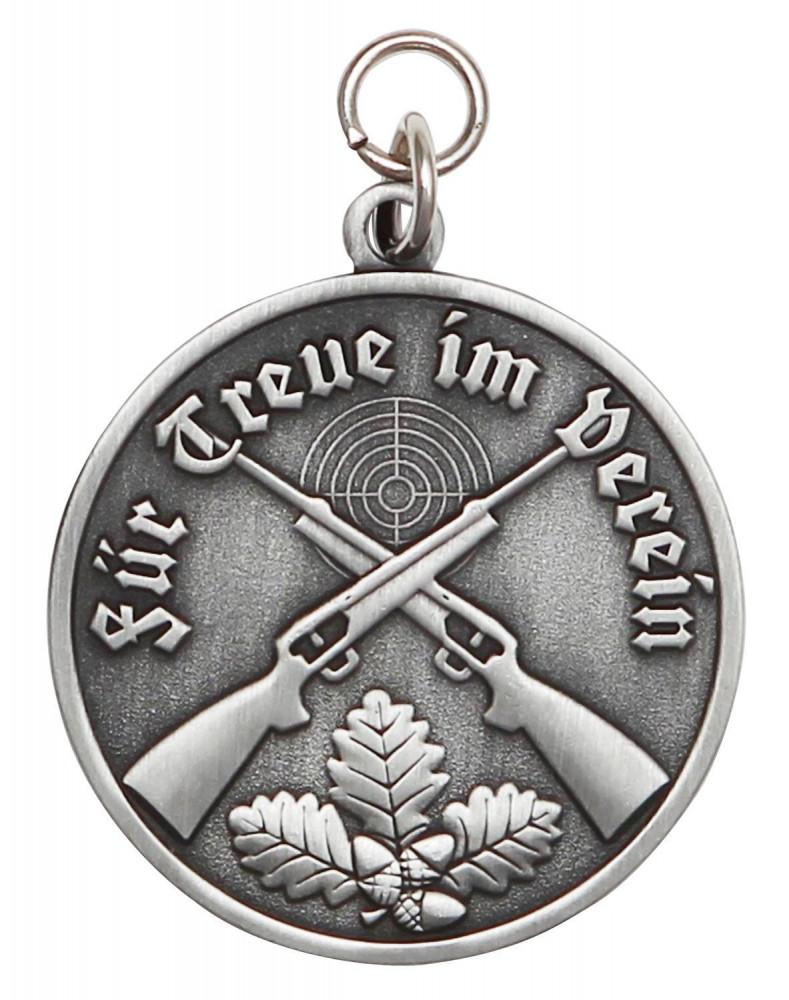 Medaille - Für Treue im Verein altsilber