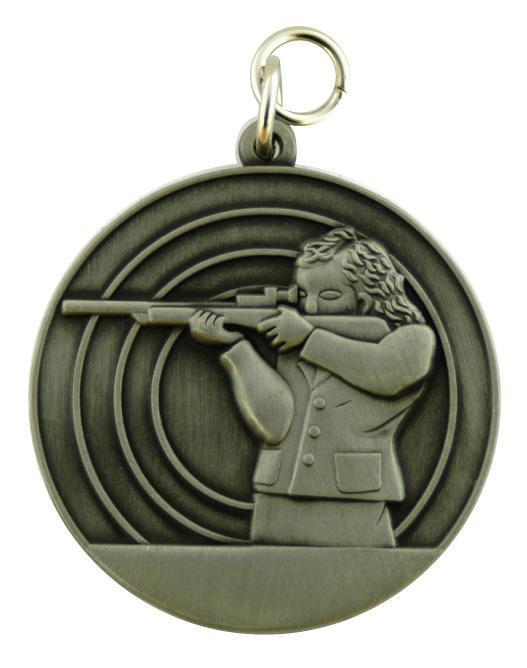 Schützenmedaille 8 altsilber