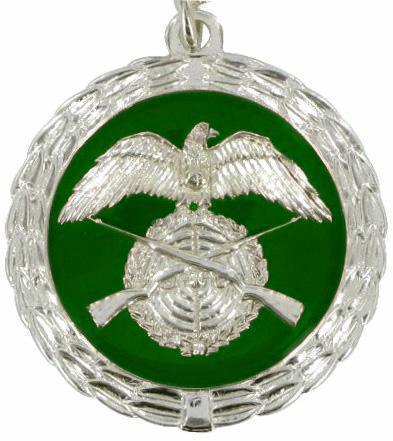 Medaille silber/grün