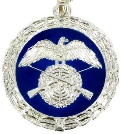 Medaille silber/blau