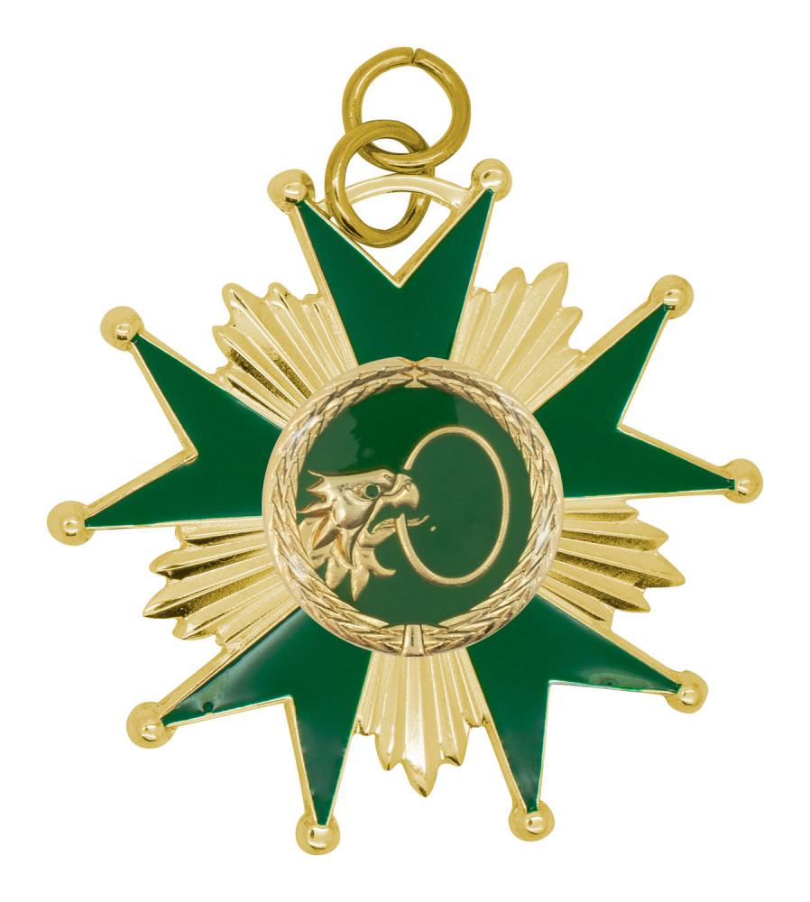 Schützenorden Stern gold/grün