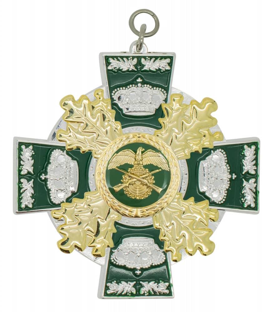 Königsorden mit Eichenlaub silber/grün