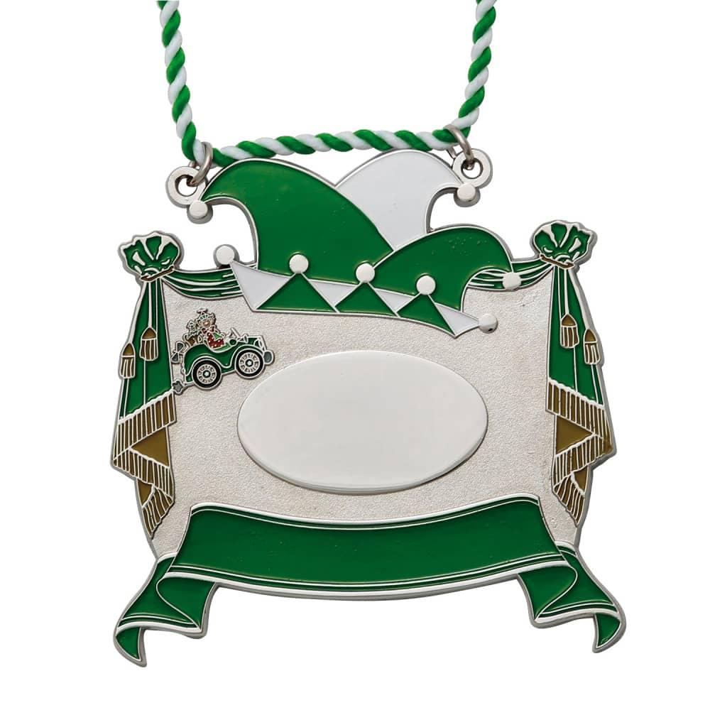 Karnevalsorden - Vorhang auf grün-weiß