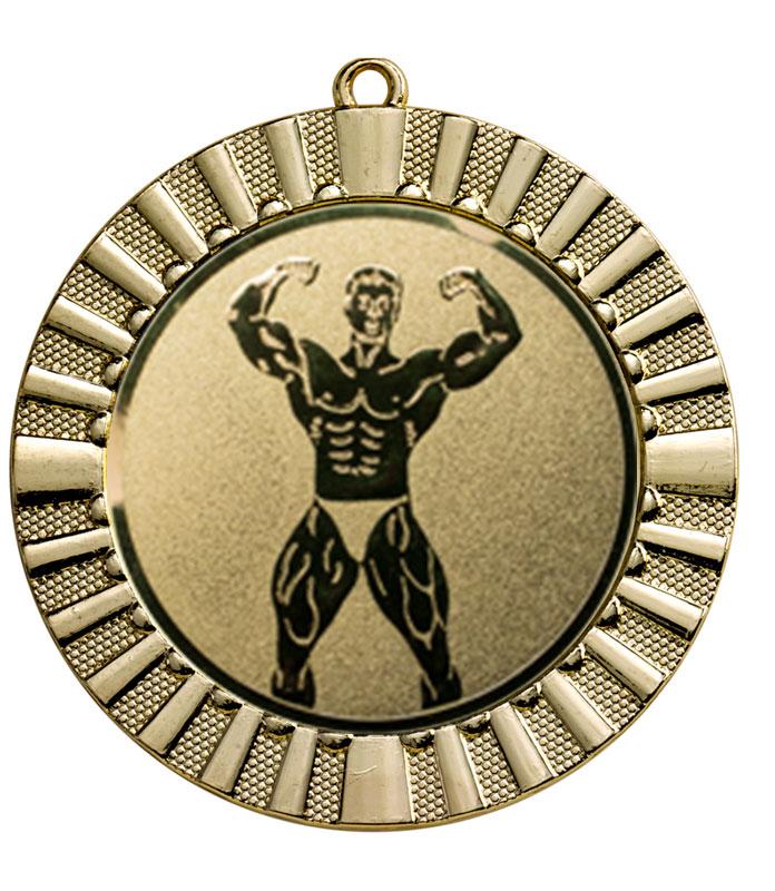 """Medaille """"Steropes"""" Ø 70 mm inkl. Wunschemblem und Kordel gold"""
