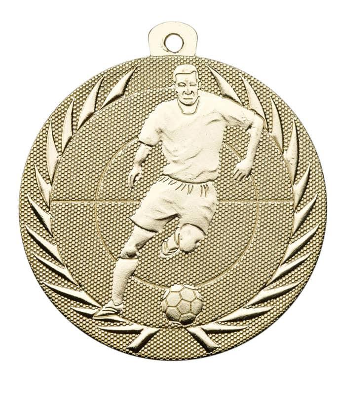 Fußballmedaille mit Band oder Kordel