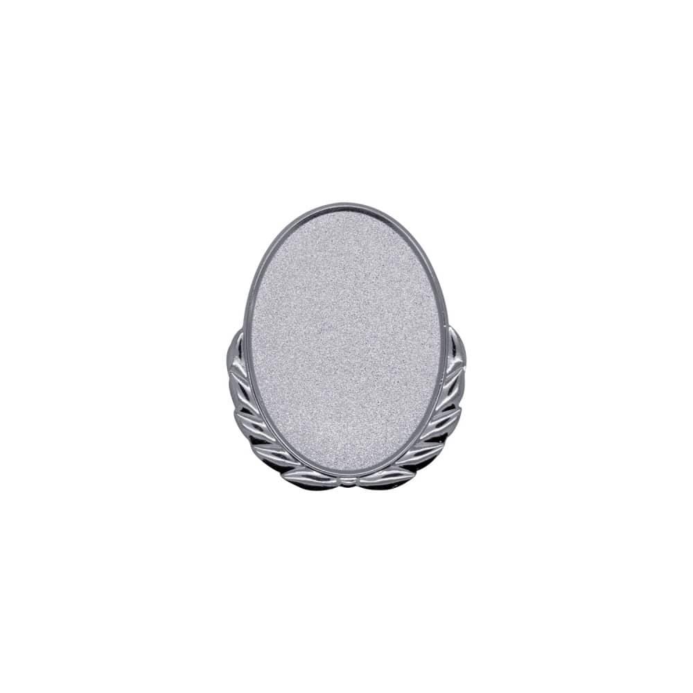 Expresspin Oval mit Kranz silber