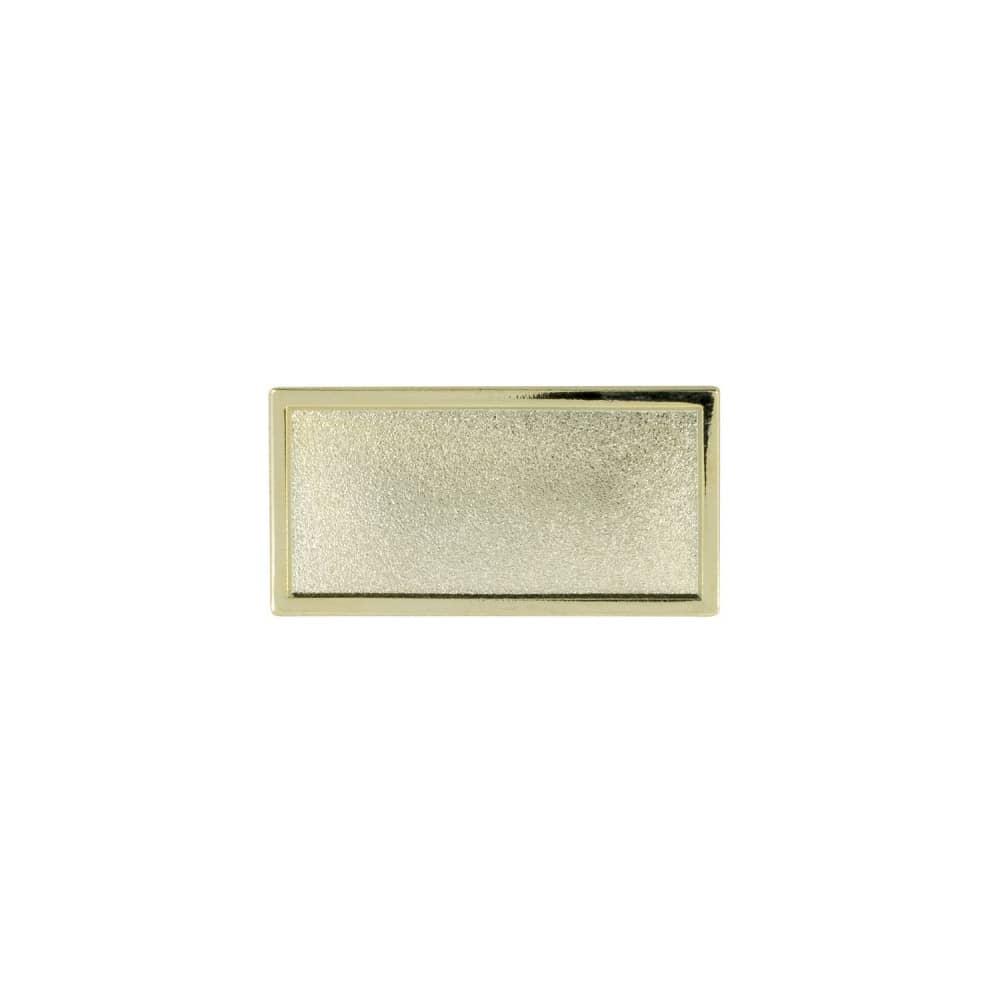Expresspin rechteckig 30mm x 15mm- selbst gestalten gold