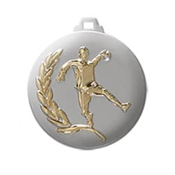 "Medaille ""Handball"" Ø 50mm silber mit Band Gold"