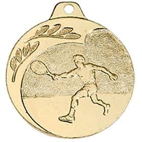 "Medaille ""Tennis"" Ø 40mm gold mit Band"