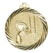 """Medaille """"Football"""" Ø 32mm gold mit Band"""