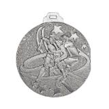 "Medaille ""Football"" Ø 50mm mit Band Silber"