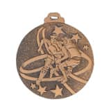 "Medaille ""Football"" Ø 50mm mit Band Bronze"