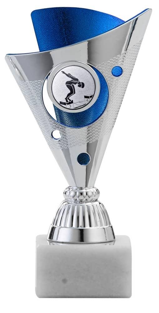 Reefman A 1215 3er Pokalserien Pokale 3er Serie A1215 silber/blau 15 cm