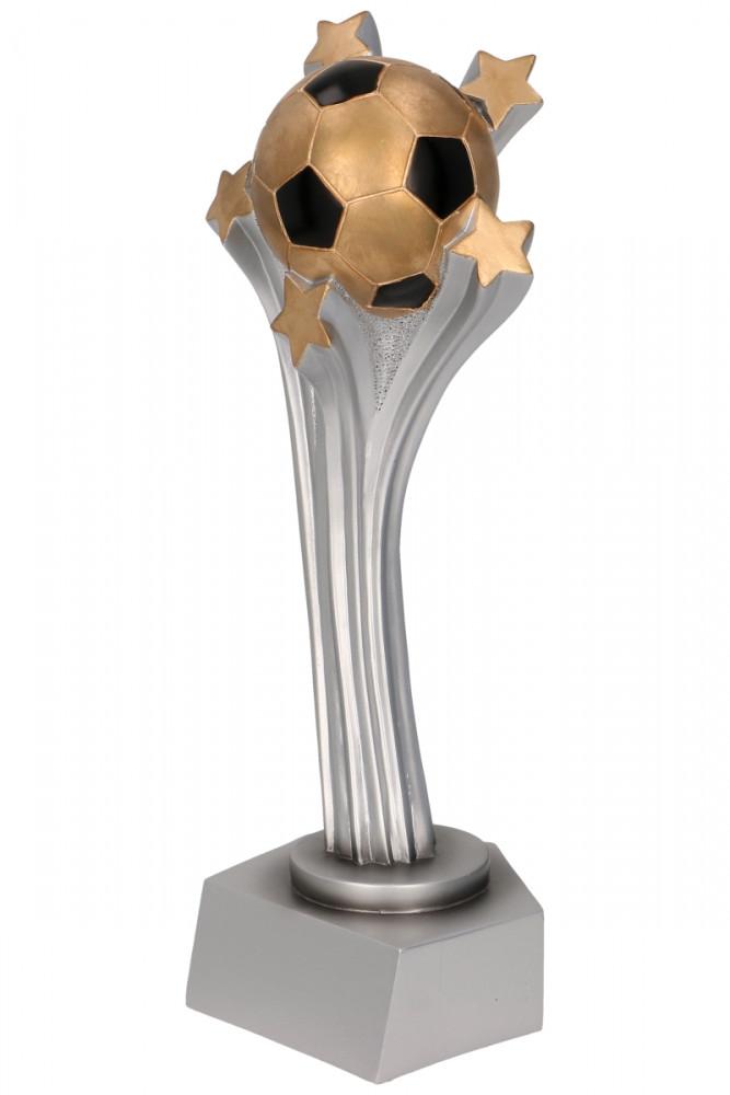 "Fußballpokal ""Ball mit 5 Sternen"" TRY-RP9003 silber gold"