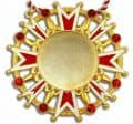 Karnevalsorden - Ehrenstern mit Schmucksteinen - Farbe - rot-weiß-gold