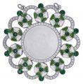 Karnevalsorden - Ehrenorden mit Schmucksteinen - Farbe - grün-weiß-silber