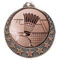 """Badminton Medaille """"Brixia"""" Ø 32mm mit Wunschemblem und Band - Farbe - bronze"""