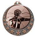 """Bogenschützen Medaille """"Brixia"""" Ø 32mm mit Wunschemblem und Band - Farbe - bronze"""