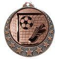 """Fußball Medaille """"Brixia"""" Ø 32mm mit Wunschemblem und Band - Farbe - bronze"""