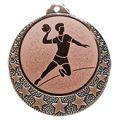 "Handball Medaille ""Brixia"" Ø 32mm mit Emblem und Band - Farbe - bronze"