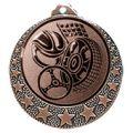 """Motorsport Medaille """"Brixia"""" Ø 32mm mit Wunschemblem und Band - Farbe - bronze"""