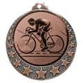 """Radsport Medaille """"Brixia"""" Ø 32mm mit Wunschemblem und Band - Farbe - bronze"""