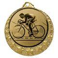 """Radsport Medaille """"Brixia"""" Ø 32mm mit Wunschemblem und Band - Farbe - gold"""