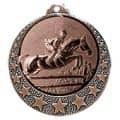 """Reitsport Medaille """"Brixia"""" Ø 32mm mit Wunschemblem und Band - Farbe - bronze"""