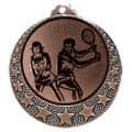 """Tennis Medaille """"Brixia"""" Ø 32mm mit Wunschemblem und Band - Farbe - bronze"""