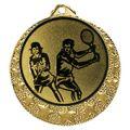 """Tennis Medaille """"Brixia"""" Ø 32mm mit Wunschemblem und Band - Farbe - gold"""