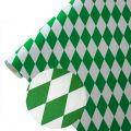 Papiertischläufer Raute wetterfest - Farbe - grün-weiß