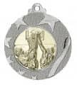 """Medaille """"Iraklio"""" Ø 50mm mit Wunschemblem und Band - Farbe - silber"""