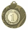"""Medaille """"Iraklio"""" Ø 50mm mit Wunschemblem und Band - Farbe - bronze"""