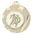 """Medaille """"Iraklio"""" Ø 50mm mit Wunschemblem und Band - Farbe - gold"""