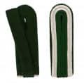 Schulterstücke mit Aussensoutache silber - Filzfarbe - grün