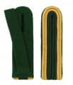 Schulterstücke mit Aussensoutache gold - Filzfarbe - grün