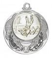 """Medaille """"Knossos"""" Ø 40mm mit Wunschemblem und Band - Farbe - silber"""