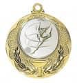 """Medaille """"Knossos"""" Ø 40mm mit Wunschemblem und Band - Farbe - gold"""