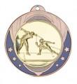 """Medaille """"Midea"""" Ø 70mm mit Wunschemblem und Band - Farbe - bronze"""