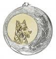 """Medaille """"Singos"""" Ø 40mm mit Emblem und Band - Farbe - silber"""